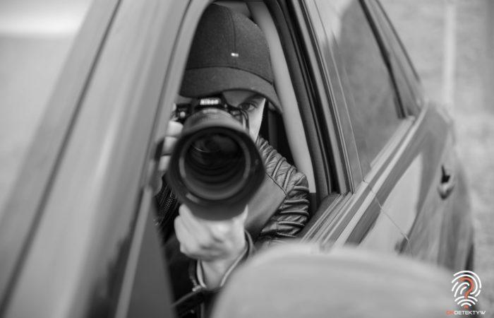 Samochód dla detektywa aparat zdjecie